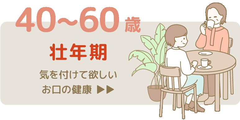 40~60歳 壮年期